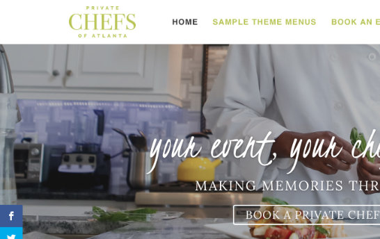Private Chefs of Atlanta Website